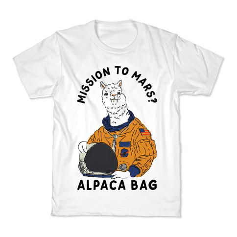Mission to Mars Alpaca Bag Kids T-Shirt