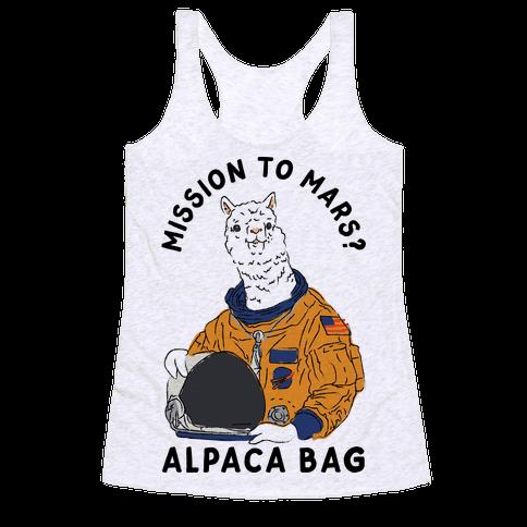 Mission to Mars Alpaca Bag Racerback Tank Top