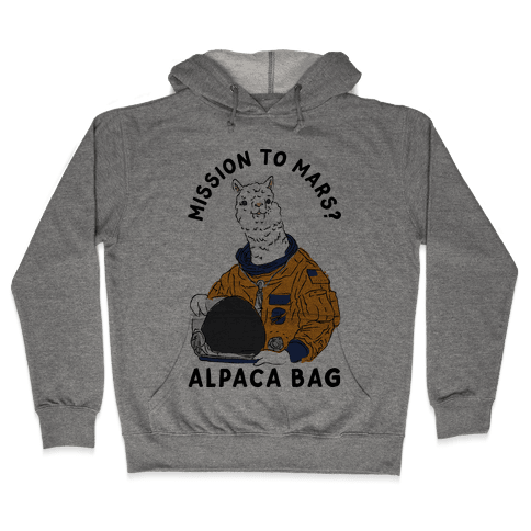 Mission to Mars Alpaca Bag Hooded Sweatshirt