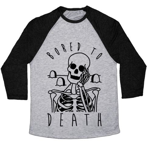 Bored To Death Baseball Tee