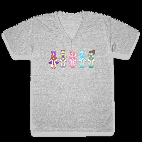 Pretty Guardians V-Neck Tee Shirt