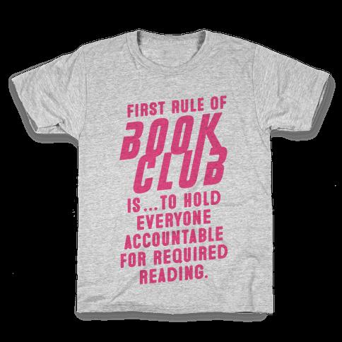 Book Club Rules Kids T-Shirt