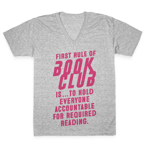 Book Club Rules V-Neck Tee Shirt
