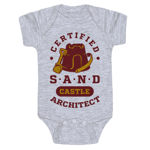 Certified Sandcastle Architect Baby Onesy