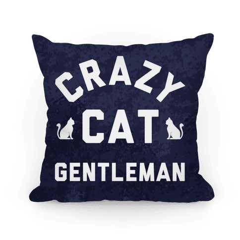 Crazy Cat Gentleman Pillow