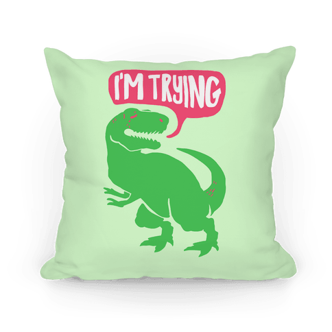 Hug Me Dinosaur (Part Two) Pillow