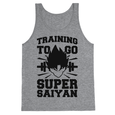 Training to Go Super Saiyan (black) Tank Top