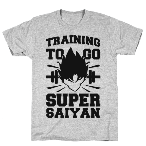 Training to Go Super Saiyan (black) Mens T-Shirt