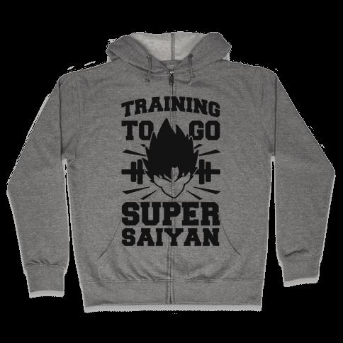 Training to Go Super Saiyan (black) Zip Hoodie