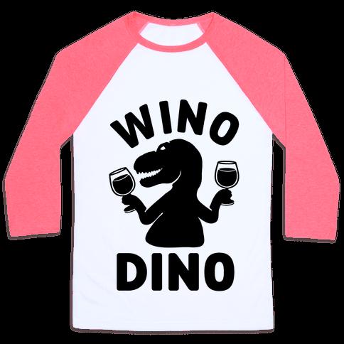 Wino Dino Baseball Tee