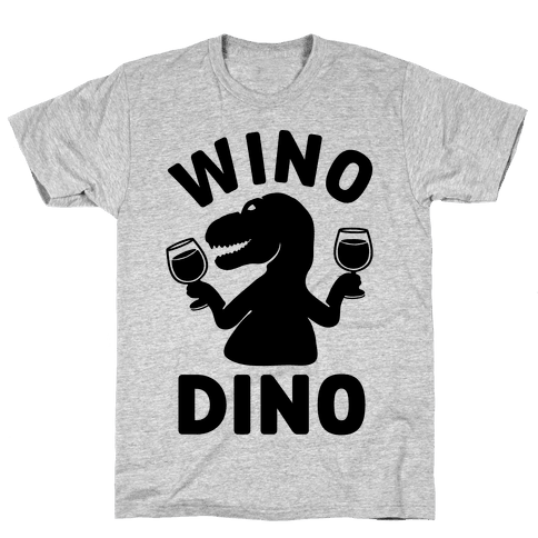 Wino Dino Mens T-Shirt