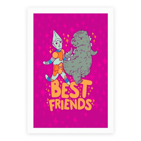 Best Friends Jet Jaguar & Godzilla Poster