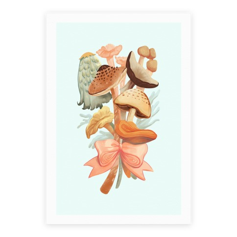 Bouquet Of Mushrooms Poster