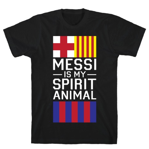 Messi Is My Spirit Animal Mens T-Shirt