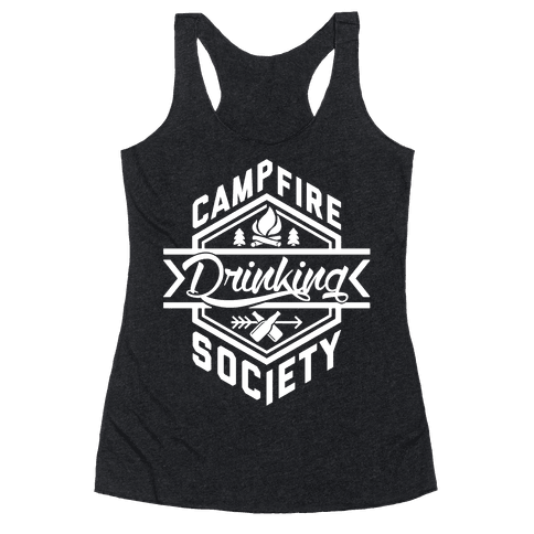 Campfire Drinking Society Racerback Tank Top