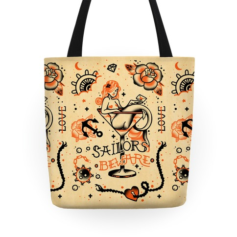 Sailors Beware Classic Tattoo Tote