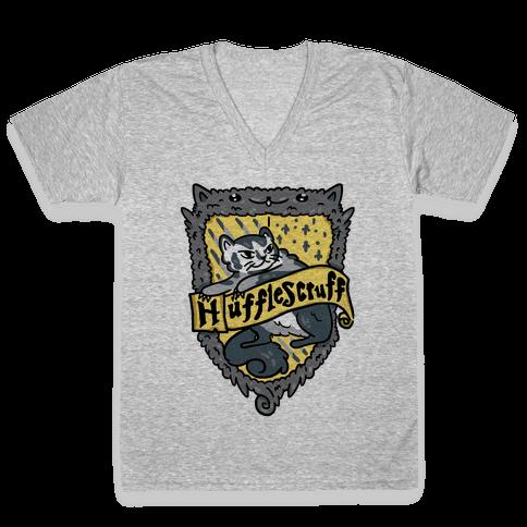 House Cats Hufflescruff V-Neck Tee Shirt