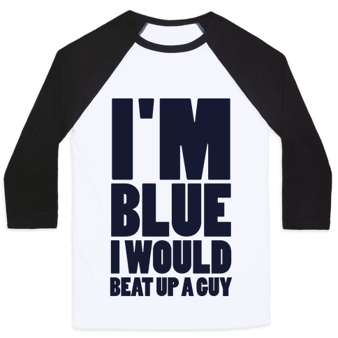 I'm Blue Baseball Tee