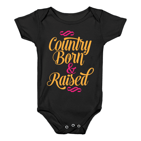 Country Born and Raised Baby Onesy
