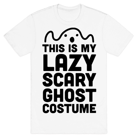 Lazy Scary Ghost Costume Mens T-Shirt
