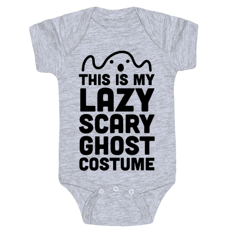 Lazy Scary Ghost Costume Baby Onesy