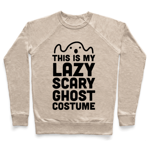 Lazy Scary Ghost Costume Pullover