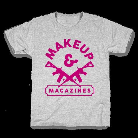 Makeup And Magazines Kids T-Shirt
