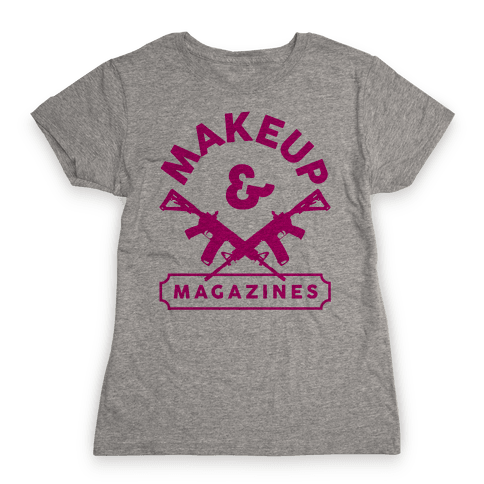 Makeup And Magazines Womens T-Shirt