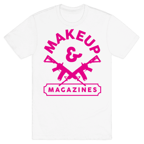 Makeup And Magazines Mens T-Shirt