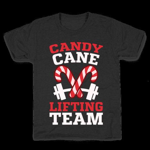 Candy Cane Lifting Team Kids T-Shirt