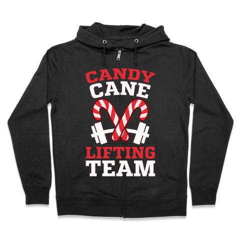 Candy Cane Lifting Team Zip Hoodie