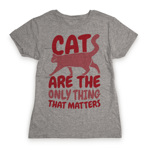 Cats Are The Only Thing That Matters Womens T-Shirt