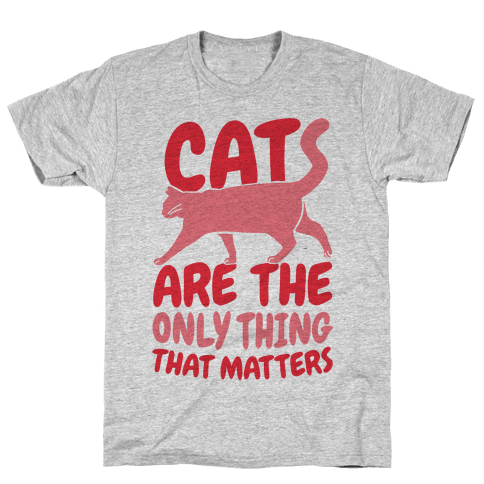 Cats Are The Only Thing That Matters Mens T-Shirt