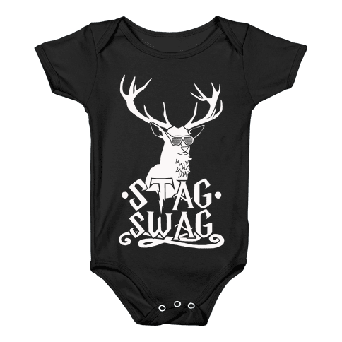 Stag Swag Baby Onesy