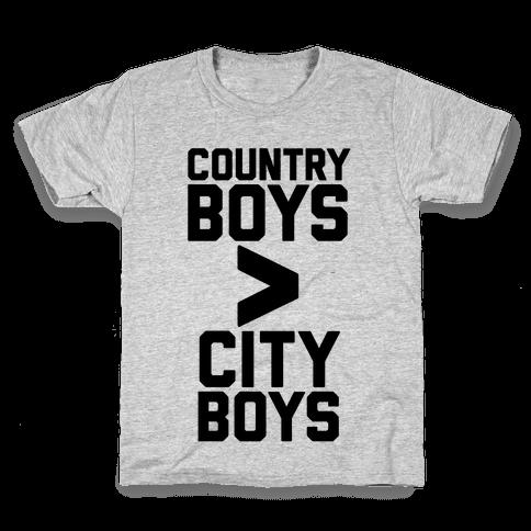 Country Boys > City Boys Kids T-Shirt