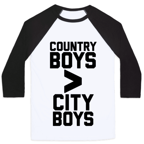 Country Boys > City Boys Baseball Tee