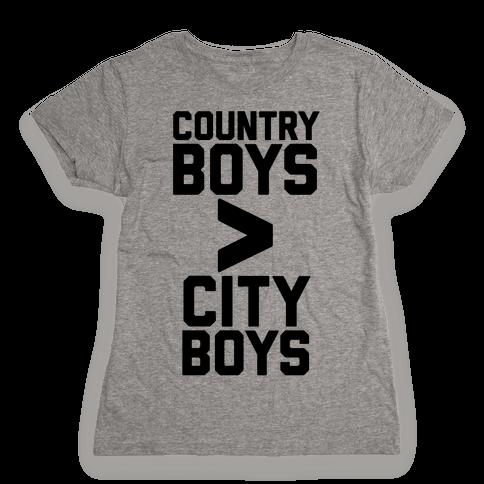 Country Boys > City Boys Womens T-Shirt