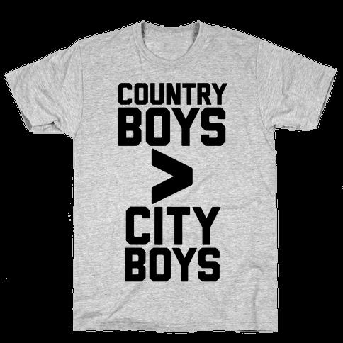 Country Boys > City Boys Mens T-Shirt
