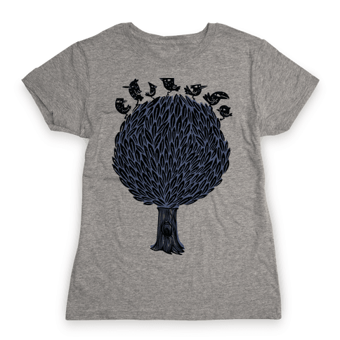 Birds on a Tree Womens T-Shirt