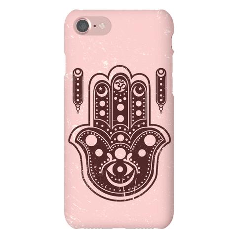 Namaste Hamsa Hand Phone Case