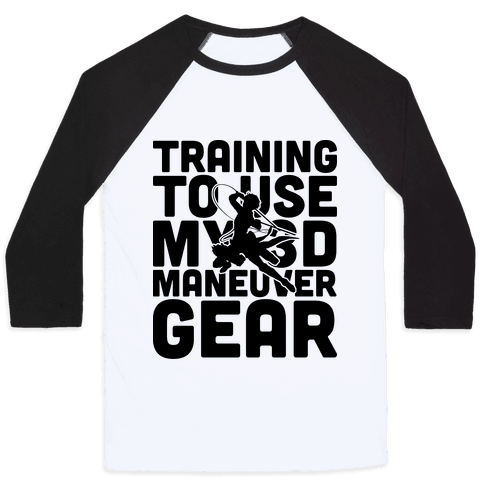 Training To use My 3D Maneuver Gear Baseball Tee