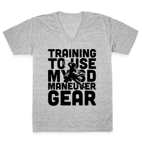Training To use My 3D Maneuver Gear V-Neck Tee Shirt