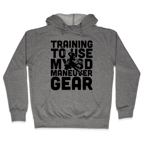 Training To use My 3D Maneuver Gear Hooded Sweatshirt