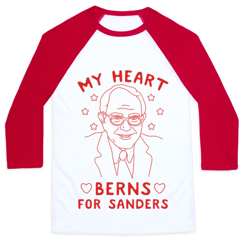 My Heart Berns For Sanders Baseball Tee