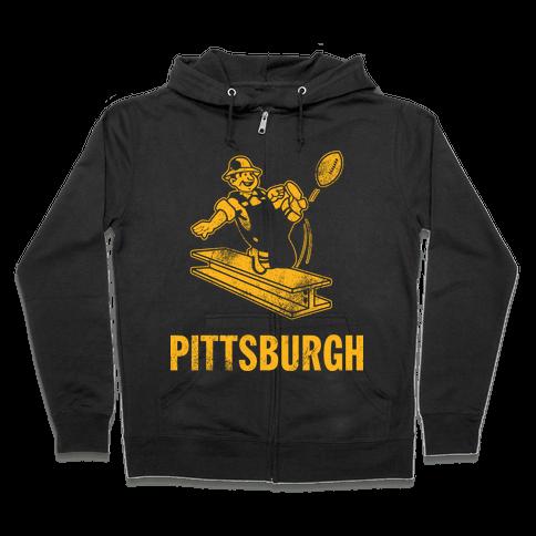 Pittsburgh Alternate (Vintage) Zip Hoodie