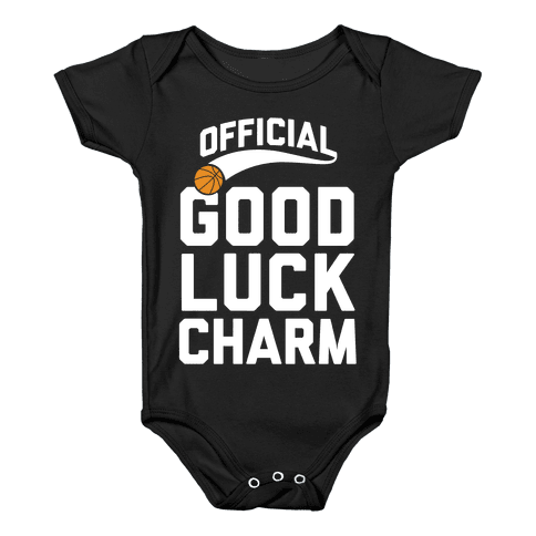 Basketball Good Luck Charm Baby Onesy