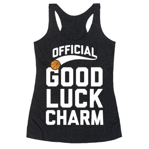 Basketball Good Luck Charm Racerback Tank Top