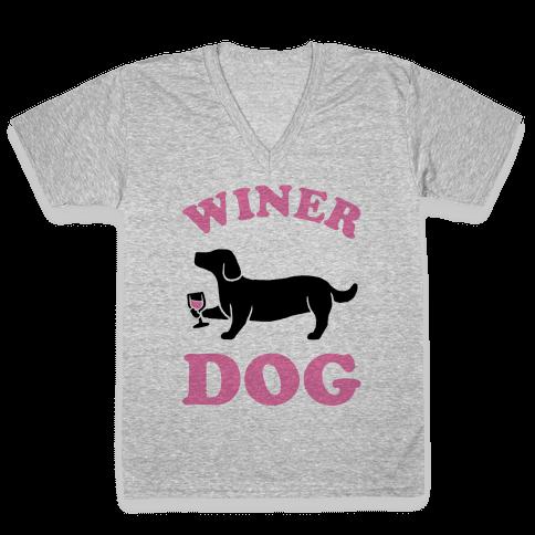 Winer Dog V-Neck Tee Shirt