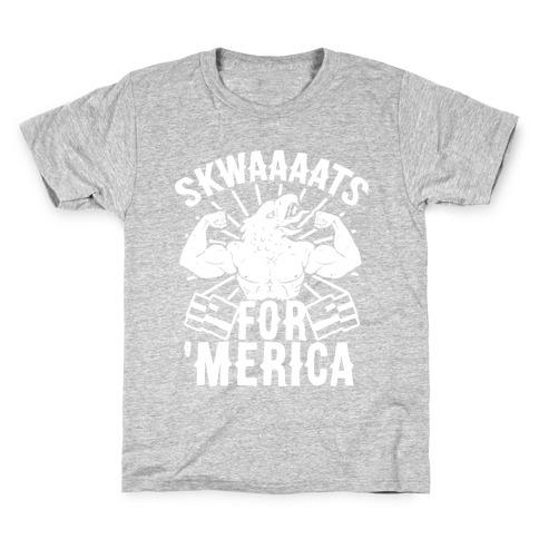 Skwaaaats For 'Merica Kids T-Shirt