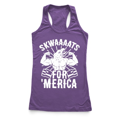 Skwaaaats For 'Merica Racerback Tank Top